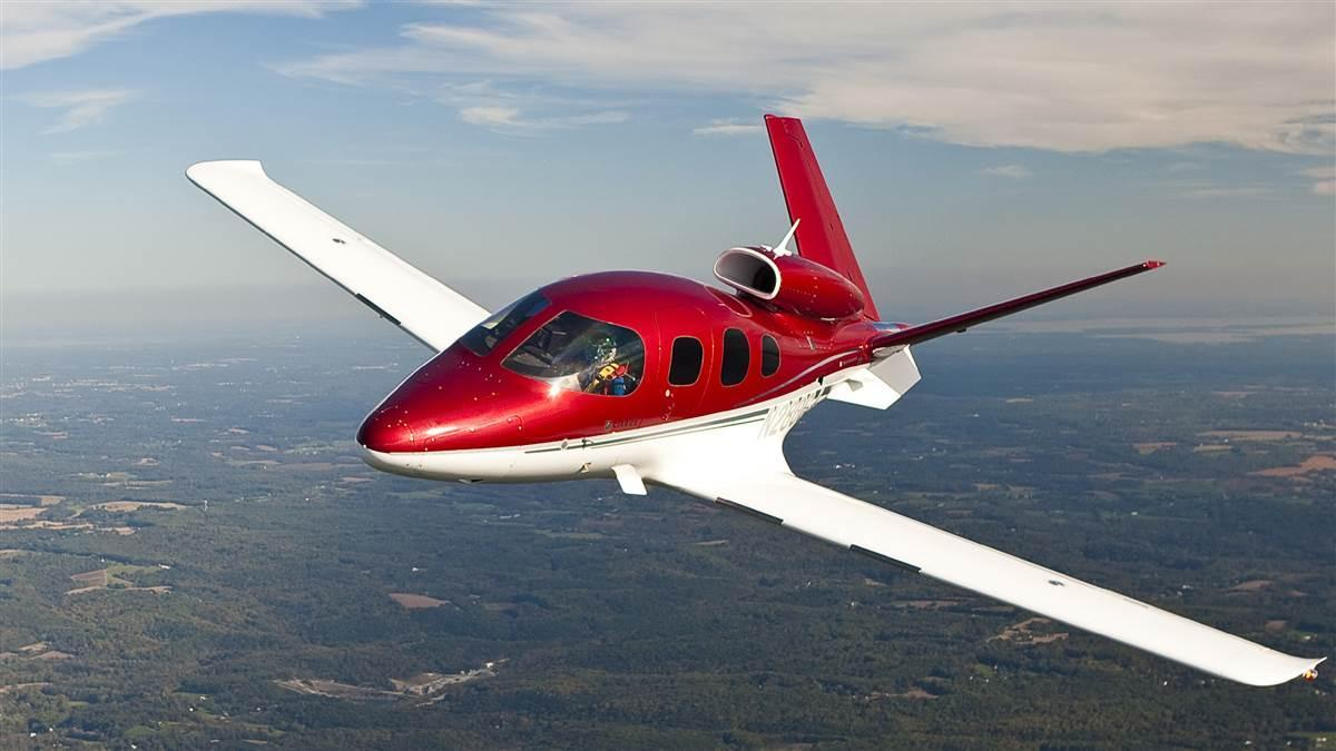 Cirrus Vision Red Private Jet