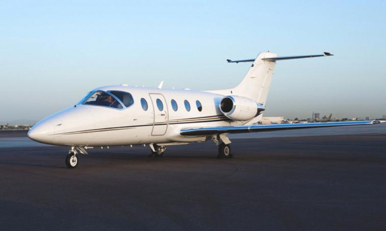 The Hawker 400 is a small twin-engine jet corporate aircraft. Initially designed and built by Mitsubishi, it has been further developed and updated by the Beech Aircraft Company, now part of Hawker Beechcraft.The cabin has a flat floor and an oval shape, maximizing the amount of usable space. The true strengths of this jet emerge when it's in the air. It boasts a cruise speed of over four hundred knots and uses the fuel-efficient Pratt & Whitney JT15D-5 turbofan engines. Pilots that have flown the Hawker 40