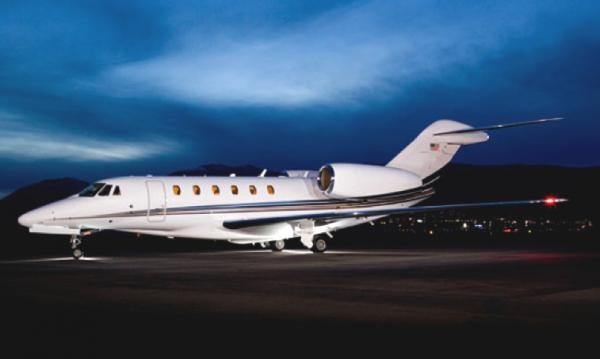 The Cessna Citation X is a long-range medium business jet aircraft powered by two Rolls-Royce turbofan engines. The Citation X can climb to 51,000 feet and cruise at incredible speeds of up to Mach 0.935. It is built by the Cessna Aircraft Company in Wichita, Kansas.