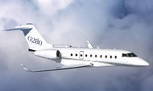 The Gulfstream 280 is a twin-engine business jet built under license by IAI in Israel for Gulfstream Aerospace. It travels 200 nautical miles/370 kilometers beyond its initial targeted range. That design achievement pushes the G280's maximum range to 3,600 nm/6,667 km at Mach 0.80, making the G280 the only aircraft in its class capable of flying nonstop from London to New York in world-record time.