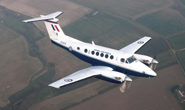 The King Air B200 twin turbine aircraft is manufactured by Beechcraft, has a normal range of 1249 and a maximum range of 1580. Typically it can support a crew of 1 and can carry up to 7- 13 passengers. It has a normal cruising speed of 283 and a maximum cruising speed of 290. It features 2 Pratt & Whitney Canada PT6A-42 engines.